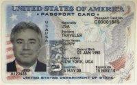 U.S. passport card.