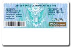 Passport Card Back