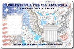 Passport Card Front