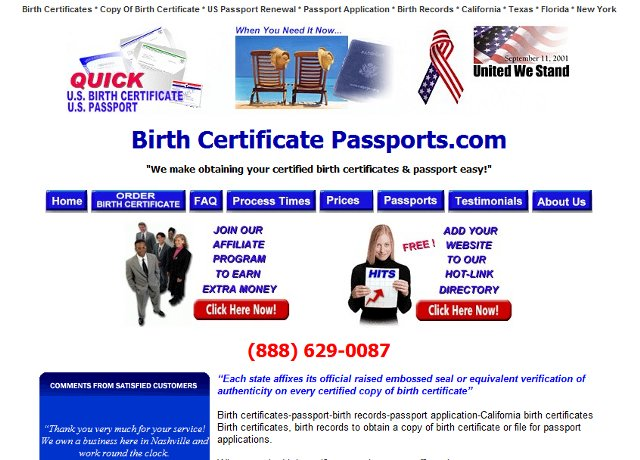 Birth Certificate Passports