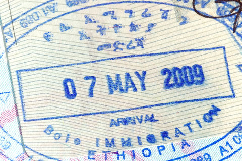 Ethiopia Visa in US Passport