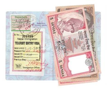 Nepal Visa in US Passport
