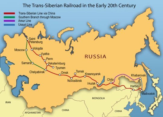 Trans Siberian Railway Route