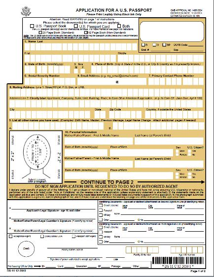 Lost Passport Form. Ds-64 Stolen/Lost Passport Application Form ...