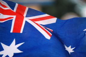 Australian Flag on Anzac Day