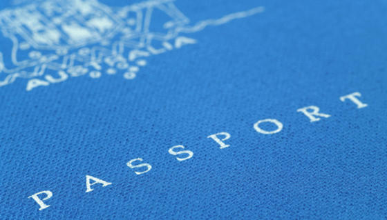 Australian Passport book cover