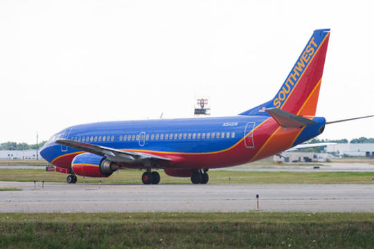 Southwest Airlines Boeing 737 on tarmac at Buffalo NY airport