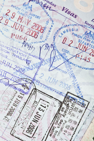 Cambodia Visa in U.S. Passport