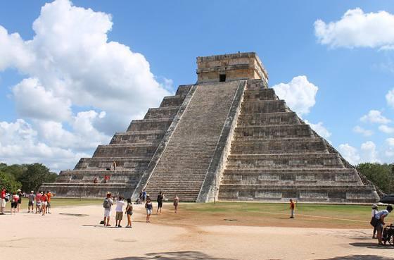 Chichen Itza Pyramid Kukulcan Mexico.