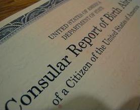 Consular Report of Birth Abroad