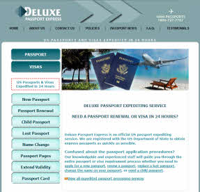 Deluxe Passport Express Expediting Service