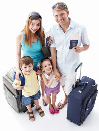 Family of four with American passports.