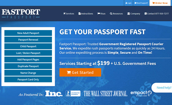 Fastport Passport - United States passport and visa expediting service
