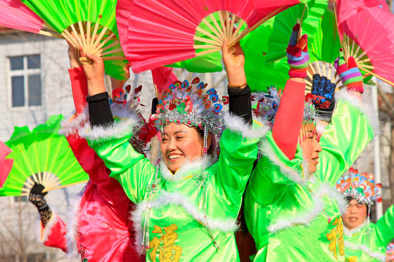 Colorful festival in China.