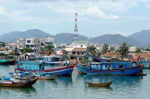 Fishing Boats in Nha Trang Vietnam