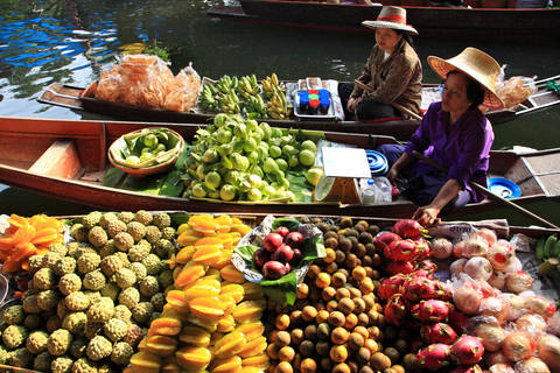 The Floating Market in Bangkok, Thailand
