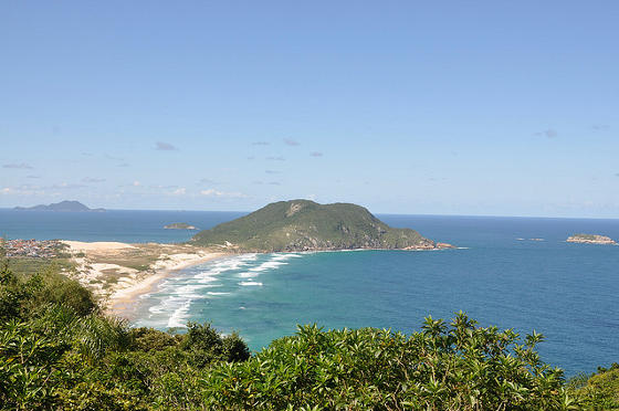 Beach in Florianopolis Brazil.
