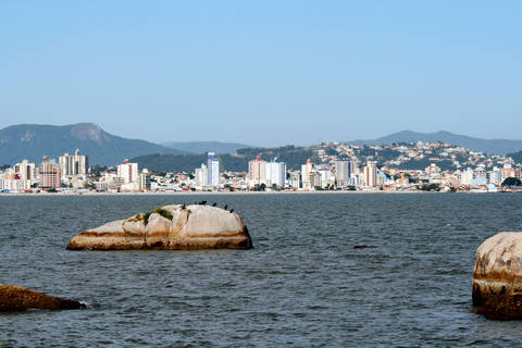 Distant view of Florianopolis Santa Catarina Brazil
