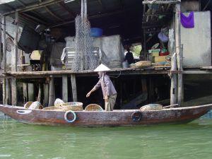 Hoi Ann Vietnam Woman in Boat
