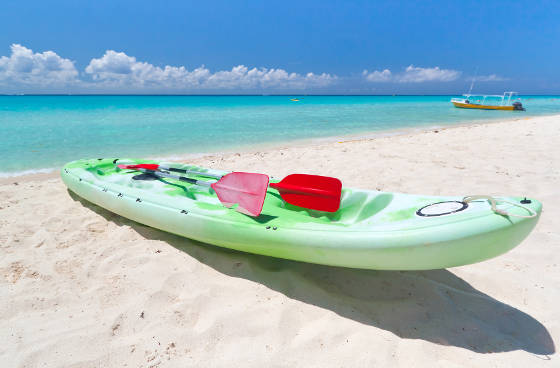 Kayak on Playa del Carmen