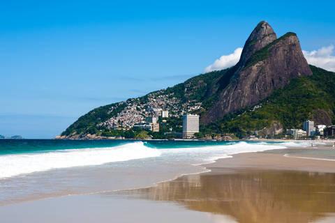 View of Leblon beach in Rio de Janeiro Brazil