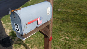 Mailbox with American Flag