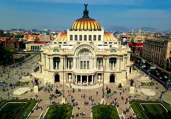 aerial view of mexico city center