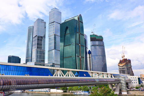 Moscow Russia business center skyscrapers