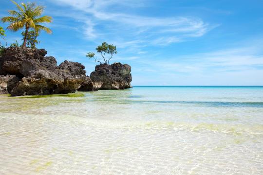 Paradise Beach Boracay Island Philippines
