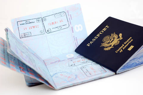 United States Passport Pages used to add visa stamps