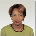 Passport photo of female.