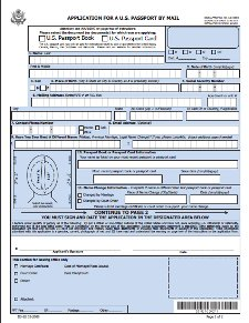 Passport Renewal Application Form DS-82