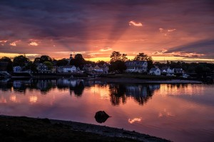 portsmouth new hampshire at sunset