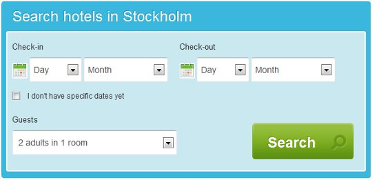 Search Hotels in Stockholm