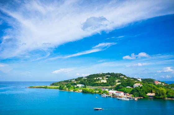 View fo St Lucia Caribbean Island