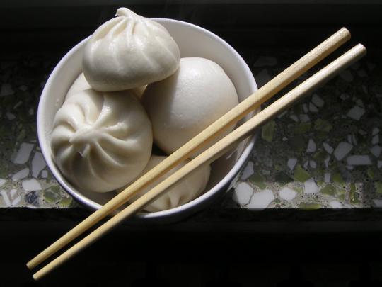 Stuffed Steamed Buns in Beijing China