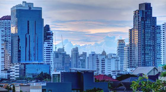 High rise buildings in Bangkok