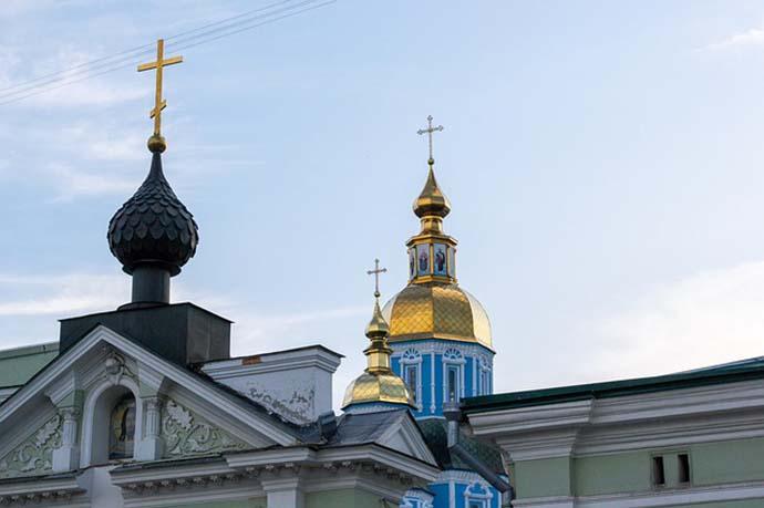 Gold church top in Kharkhov Ukraine