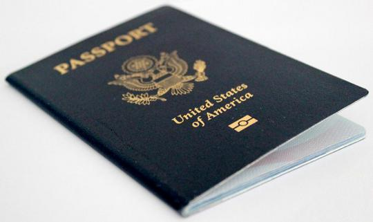 United States passport book
