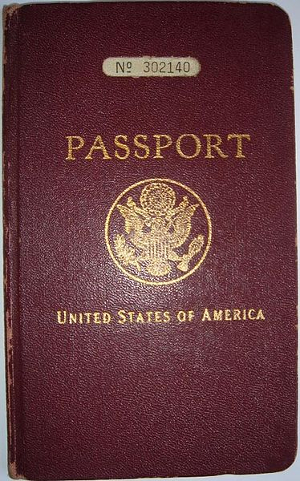 red American (US) passport from 1930