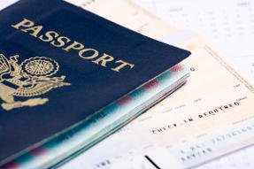 US Passport and Airline Ticket