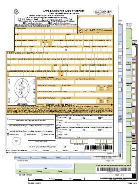 Passport application form printable