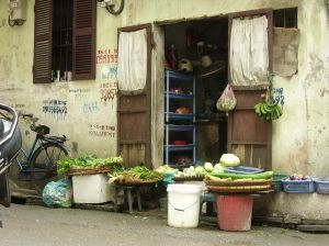 Vegetable Stand in Vietnam