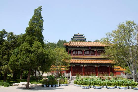 Wanchun Pavilion at Jingshan Park in Beijing China.