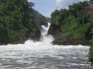 Waterfall in Uganda
