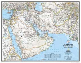 Afghanistan Pakistan Middle East Map