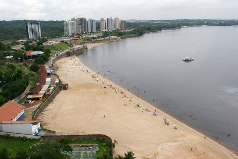 Beach on Amazon River in Manaus Brazil