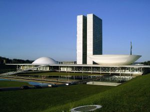 National Congress building in Brasilia the capital of Brazil.