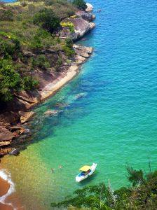 The tropical climate of Brazil makes for beautiful beaches.