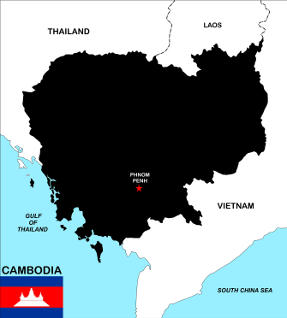 Cambodia Map and Flat